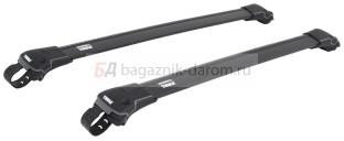 Багажник Thule WingBar Edge Black для Dacia Dokker 4/5 дв. Van 2012г. и по н.в. на рейлинги (аэродинамическая дуга)